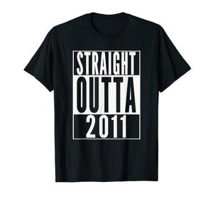 STRAIGHT OUTTA 2011 8th Birthday 8 years old T-Shirt