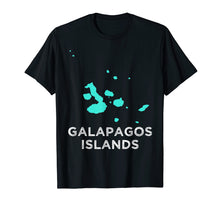Load image into Gallery viewer, Galapagos Islands map tourism t-shirt for men, women & kids