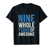 Load image into Gallery viewer, 9th Birthday Shirt Gift Boy Age 9 Nine Year Old Boys Son