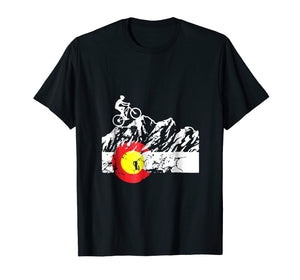 Colorado Mountain Biking - Cycling - Bicycle T-shirt