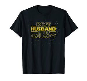 Mens Best Husband in the Galaxy, Funny Husband T-Shirt Gift