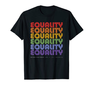 National Pride March Shirt Vintage Rainbow LGBT Equality