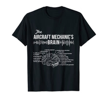 Load image into Gallery viewer, Aircraft Mechanic's Brain - Aircraft Mechanic T-shirt