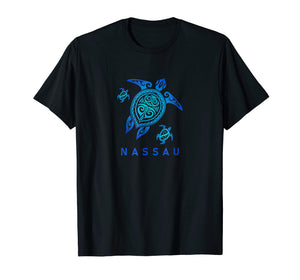 Nassau Bahamas T-Shirt Sea Blue Tribal Turtle