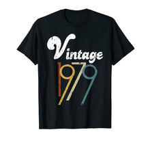 Load image into Gallery viewer, 40th Birthday Gift Vintage 1979 T-Shirt