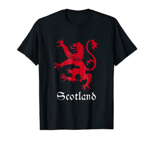 Scottish Lion Rampant T-shirt Scotland Coat Arms Gift Rugby