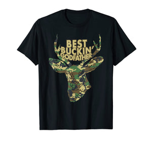 Best Buckin' Godfather T-Shirt Funny Deer Hunter Tee Gifts