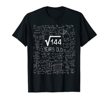 Load image into Gallery viewer, 12 Years Old Square Root of 144 - 12th Birthday Gift T-Shirt