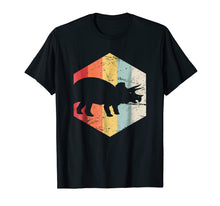 Load image into Gallery viewer, Retro Triceratops Dinosaur T-Shirt