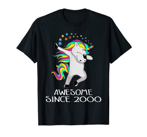Unicorn 19 Years Old 19th Birthday Girl T-Shirt 2000 Dabbing