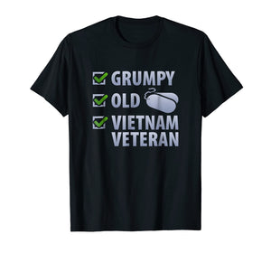 Veterans Shirt Grumpy Old Vietnam Veteran Tee Men Women Gift