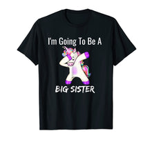 Load image into Gallery viewer, I'm Going to be a Big Sister Girls Cute Unicorn T-Shirt