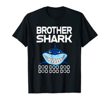 Load image into Gallery viewer, Brother Shark T-shirt Doo Doo Doo - Gift Shark Tee