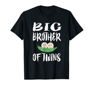 Big Brother Of Twins T-Shirt Older Brother Gift Announcement