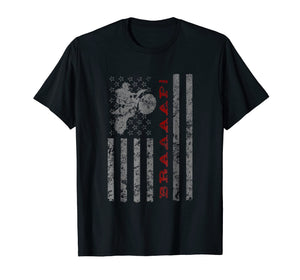 Braaaaap American Flag Dirtbike - T-Shirt