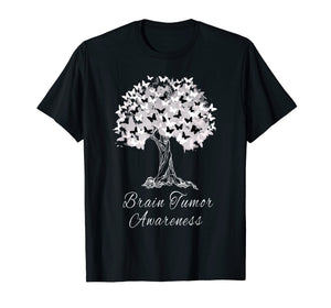 Brain Tumor Awareness T-Shirt Warrior Tree Hope Gift