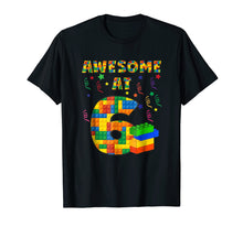 Load image into Gallery viewer, Birthday Shirt For Kids 6 Building Blocks Bricks Theme Party