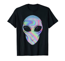 Load image into Gallery viewer, Alien Head Holographic Glow Effect T Shirt
