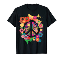 Load image into Gallery viewer, Peace Sign T-Shirt - Colorful Peace Tshirt - 70's Tee Shirt