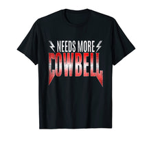 Load image into Gallery viewer, 80's Heavy Metal - Needs More Cowbell Shirt T-shirt