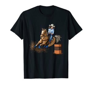 Barrel Racing Horse T Shirt Country Western Womens Girls Kid