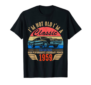 Classic 1959 T-shirt for Men Women 60th Birthday Gift Ideas