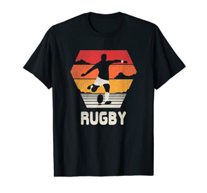 Rugby T Shirt Retro Vintage 70s 80s Style Rugger Gift