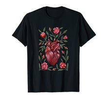 Load image into Gallery viewer, Vintage Anatomical Heart Floral T-Shirt