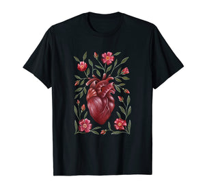Vintage Anatomical Heart Floral T-Shirt