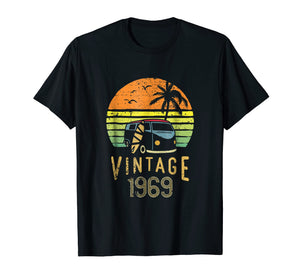 1969 Vintage 50th Birthday Gift Hippie Van Surfer Shirt