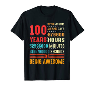 100 Years Old 100th Birthday Vintage T Shirt 1200 Months