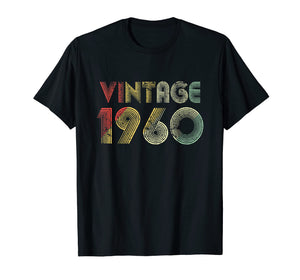 Retro Vintage 1960 TShirt 59th Birthday Gifts 59 Years Old