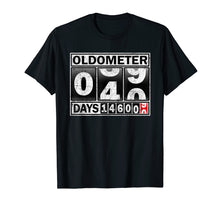 Load image into Gallery viewer, Oldometer 40 Shirt 40th Birthday Counting Funny Gift Shirts