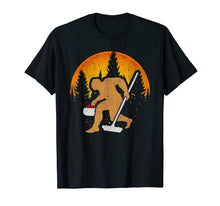 Load image into Gallery viewer, Curling Bigfoot T-Shirt, Funny Cute Winter Sport Gift Idea