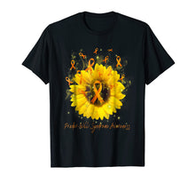 Load image into Gallery viewer, PRADER-WILLI SYNDROME AWARENESS Sunflower Ribbon T-Shirt