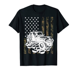 Jeeps T Shirt Camouflage American Flag Birthday Gift T-Shirt