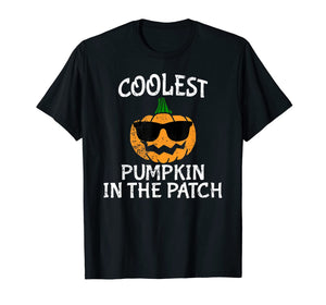 Coolest Pumpkin in the patch Funny Boys Halloween Tee  T-Shirt