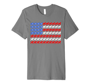 Poodle 4th of July USA American Flag Patriotic Men Women Dog Premium T-Shirt