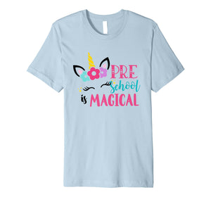 Preschool Unicorn Back to School Girls Preschool T-Shirt
