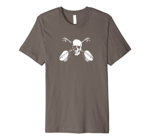 Skull and Cross Banjos - Bluegrass/Newgrass Rock T-Shirt
