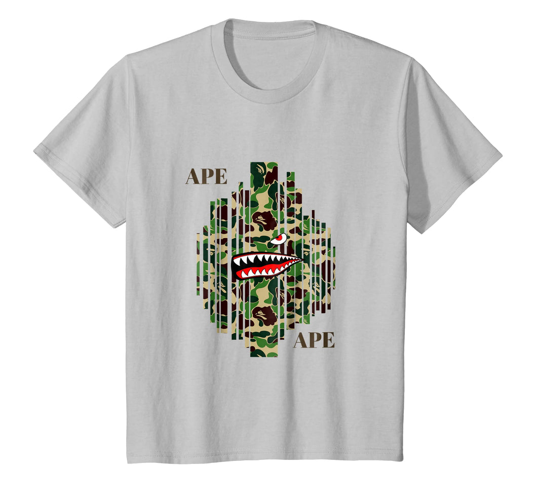 ape Camo bathing Tshirt 2018 designer adult kids T