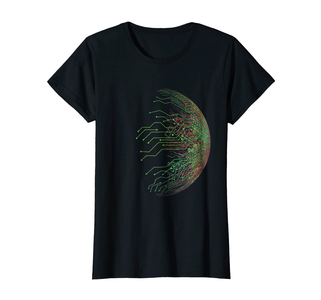 Abstract Circuit Board World Binary T-Shirt