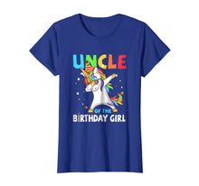 Load image into Gallery viewer, UNCLE Of The Birthday Girl Dabbing Unicorn Party T-Shirt
