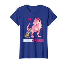 Load image into Gallery viewer, Auntiesaurus Autism Awareness T-Shirt Auntie Saurus Family G