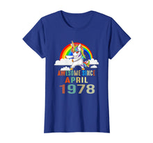 Load image into Gallery viewer, Flossing Unicorn 41 Year Old April 1978 41st Birthday Shirt