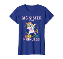 Load image into Gallery viewer, Proud Big Sister Of A Birthday Unicorn Dab Girl T-Shirt