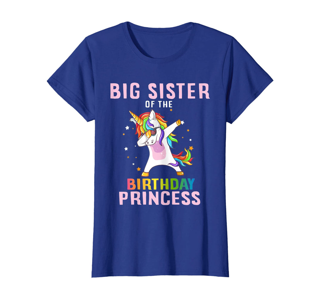 Proud Big Sister Of A Birthday Unicorn Dab Girl T-Shirt