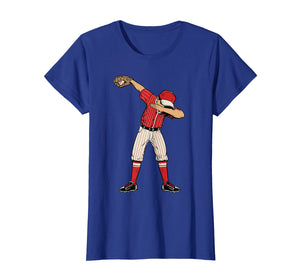 Dabbing Baseball Catcher Gift Shirt Men Boys Kids BZR