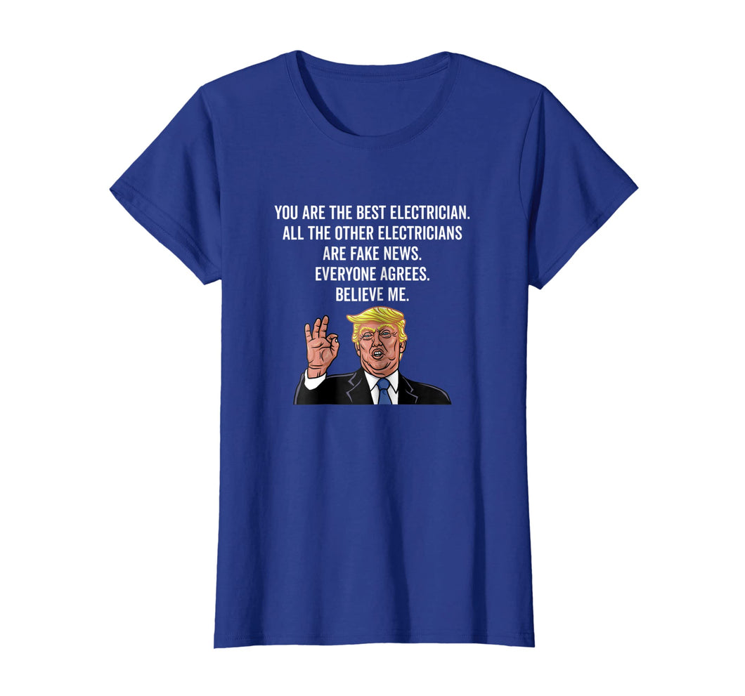 Funny Trump Electrician Lineman Gifts Shirt