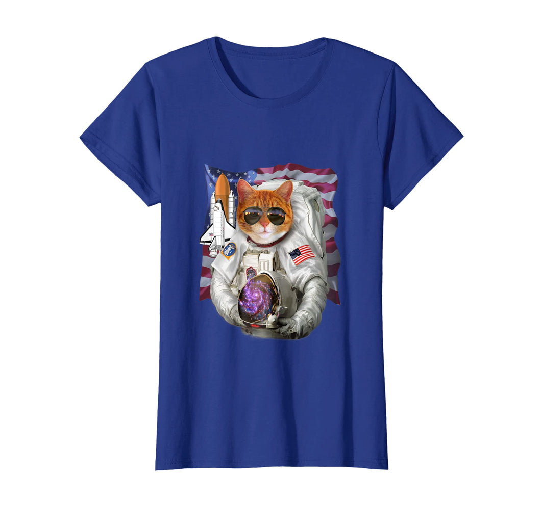 T-Shirt, Cat as Pilot Astronaut, Space Shuttle Commander